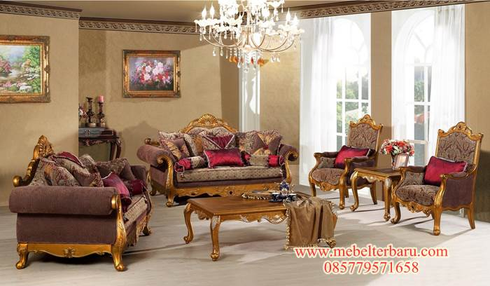 Set Kursi Sofa Luxury Living Room SKTS 015 MT